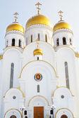 Temple of christmas i krasnoyarsk — Stockfoto