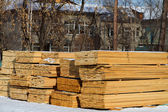 Folded stacks of planks — Stock Photo