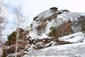 "Rock formations in the Krasnoyarsk National Park ""Stolby"" - first pillar — 图库照片"