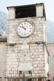 The clock tower in the town of Kotor in Montenegro — Stock Photo