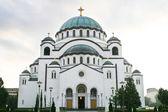 Temple of Saint Sava in Belgrade - Serbia's main Orthodox church — Stok fotoğraf