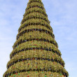 Christmas tree in the central square of one of the Russian cities — Stock Photo