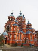 Igreja de kazan em irkutsk, rússia — Fotografia Stock