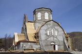 Restoration of the church in the Holy Dormition Monastery — Stock Photo