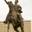 Stock Photo: Tamerlane monument in main square of Tashkent