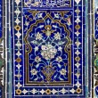 Fragments ornaments on the walls of religious buildings in Uzbekistan — ストック写真