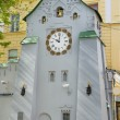 The clock on the tower near the offices of the Central Bank of Russia in Nizhny Novgorod — Stock Photo