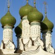 Stock Photo: Green dome of Orthodox church in Nizhny Novgorod