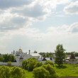 The view from the observation deck at the Pokrovsky monastery in Suzdal — Stock Photo