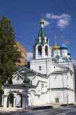Orthodox church with a bell tower in the city of Nizhny Novgorod — Stock Photo