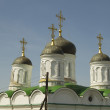 Stock Photo: Fragment of Orthodox church - tower with dome and cross