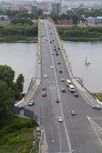 The bridge across the Oka River in Nizhny Novgorod — Stock Photo