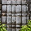 Wooden fence palings — Stock Photo