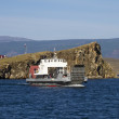 Stock Photo: Ferry between mainland and island of Olkhon