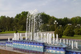 The fountain in the main square in Tashkent — Stok fotoğraf