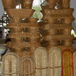 Stock Photo: Wicker basket on Tashkent bazaar