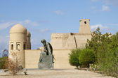 The area in front of the Fortress in the old city of Khiva, Uzbekistan — Stock Photo