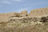 The wall of the fortress in the old city of Khiva, Uzbekistan — Stock Photo