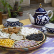 Stock Photo: Traditional Uzbek hospitality - is served teand sweets