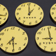 Clocks showing the time all five prayers Muslims — Stock Photo