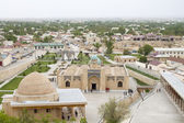 View from the hill on a mosque and a small Uzbek city — Foto de Stock