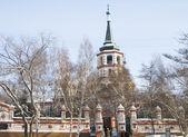 Holy Cross (Kresto-Vozdvigenskiy) church in Irkutsk — Stockfoto