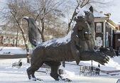 Babr (Amur tiger), carries teeth sable - a monument symbol of Irkutsk — Stock Photo
