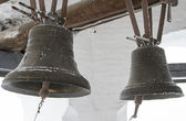 Two bells in the bell tower of an Orthodox church — Stok fotoğraf