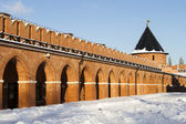 Shopping arcade and Ugolnaya tower Tula Kremlin — Stock Photo