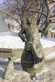 Monument in de stad van samara Tsjechische held verhalen - soldaat schweik — Stockfoto
