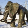 Stock Photo: Bronze figure of mammoth in park in Samara