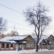 Stock Photo: Street with wooden houses in Samara