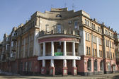 Old house with columns and a balcony on the waterfront in Irkutsk — Stock Photo