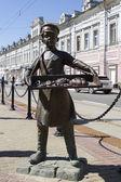 NIZHNY NOVGOROD, RUSSIA - MAY 09: Monument to the baker on May 9, 2014 in Nizhny Novgorod. — Stock Photo