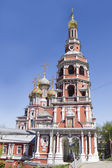 Christmas Stroganov Church in Nizhny Novgorod — Stock Photo