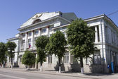 SIZRAN, RUSSIA - MAY 25  The building of the district court in the city Sizran of Samara region on May 25, 2014 in Sizran — Stock Photo