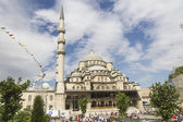 ISTANBUL - JULY 4: New Mosque (Yeni Camii) is one of the most noticeable attractions of Istanbul on July 4, 2014 in Istanbul. — Stock Photo