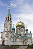 Holy Assumption Cathedral on Cathedral Square in Omsk — Stock Photo