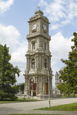 ISTANBUL - JULY 4: Clock Tower on the territory of the Dolmabahce Palace on July 4, 2014 in Istanbul. — Stock Photo