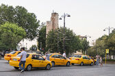 Cars taxi on the streets of Istanbul — Foto Stock