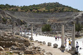 The ruins of the ancient city of Ephesus, located on the territory of modern Turkey — Stock Photo