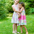Two adorable little girls standing together — Stock Photo #12311468