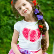 Adorable little girl outdoors — Stock Photo