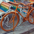 Orange bike - Stock Photo