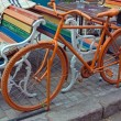 Orange bike — Stock Photo