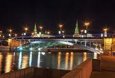 Bolshoy Kamenny Bridge and Moscow Kremlin,Russia — Stock Photo