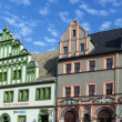 Houses on a market square in Weimar, Germany — Stock Photo