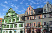 Houses on a market square in Weimar, Germany — Stockfoto