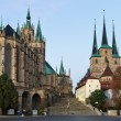 Erfurt Cathedral and Severikirche,Germany — Stockfoto