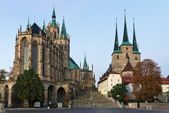 Erfurt Cathedral and Severikirche,Germany — Stock Photo